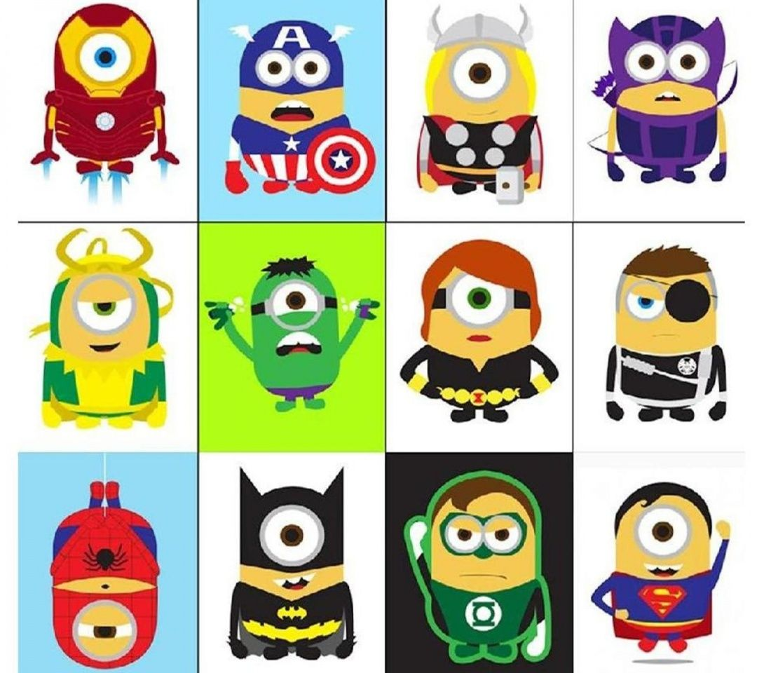Download Minions Superheroes1080x960960x1080freehotmobile Phone Wallpapers