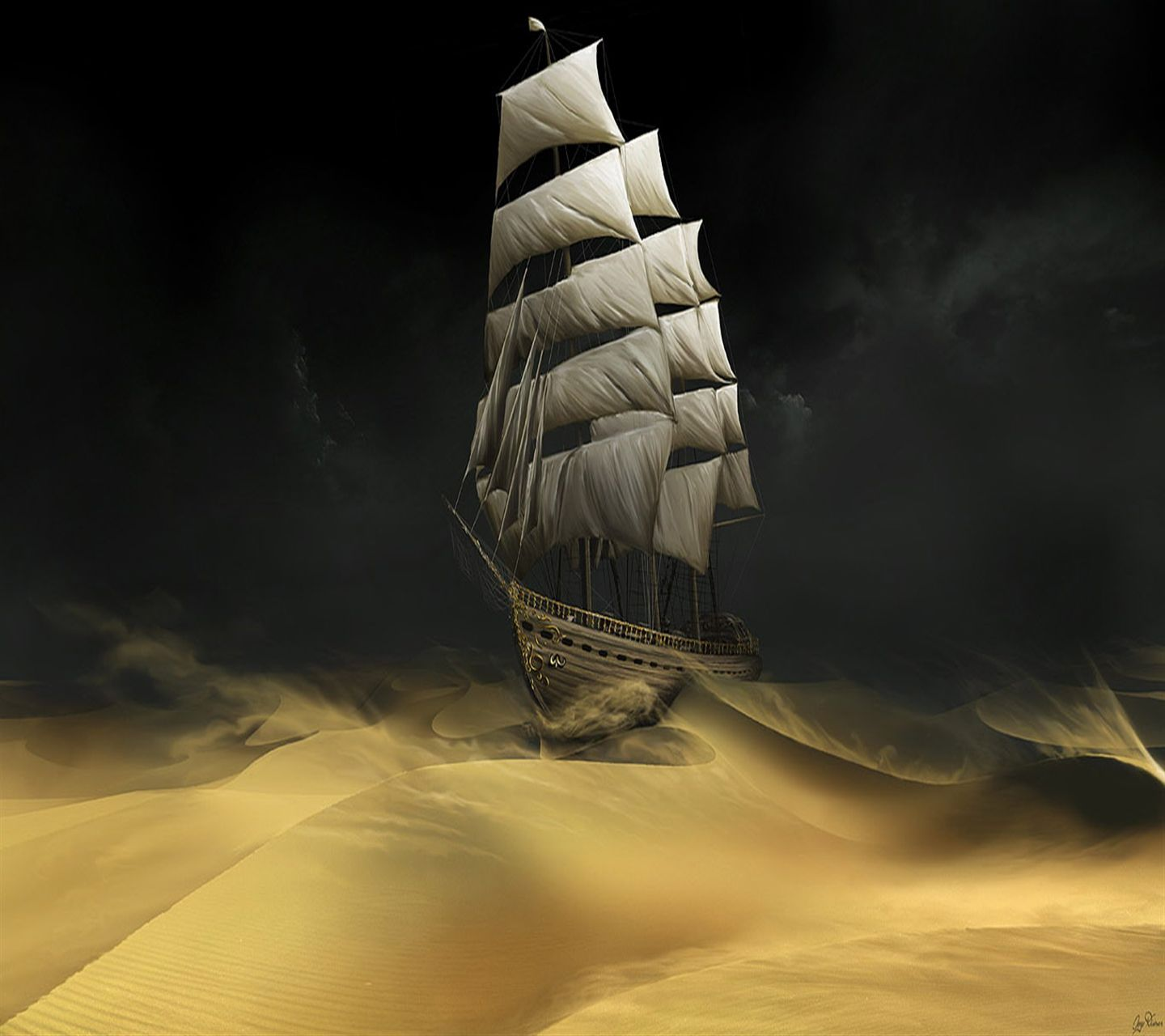 Download · Sandstorm Ship Hd,1440x1280,1280x1440,free,hot,mobile phone wallpapers,