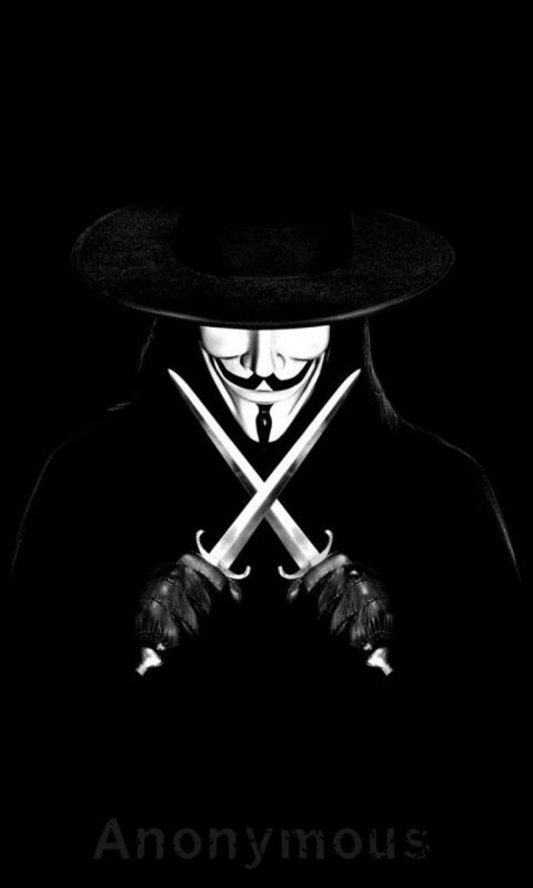 480x800 mobile phone w...V For Vendetta Mask Wallpaper