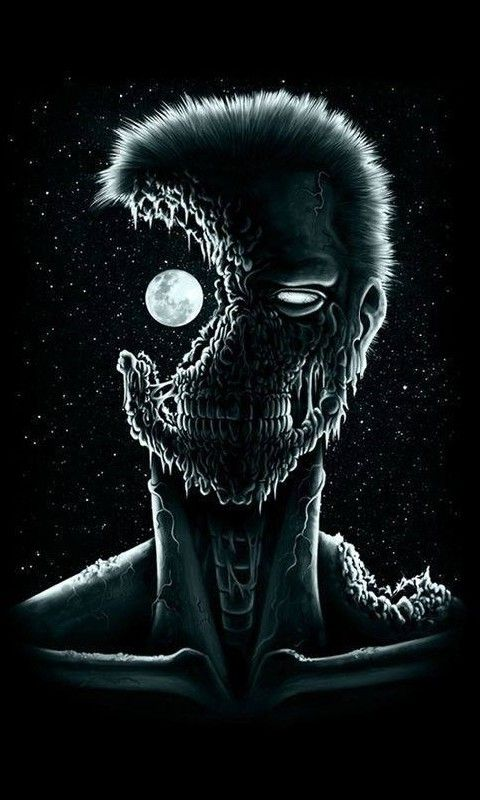 Download · Zombie in the Moonlight,480x800,800x480,free,hot,mobile phone wallpapers